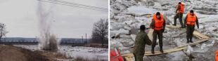 Saperzy wysadzili zator lodowy