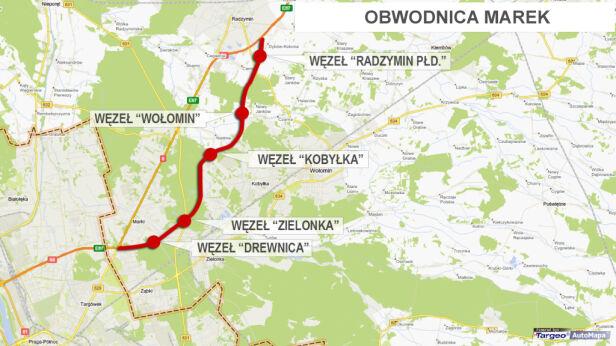 Tędy będzie biegła obwodnica Marek tvn24.pl
