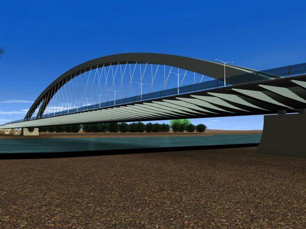 Jeden z projektów mostu Krasińskiego mat. prasowe