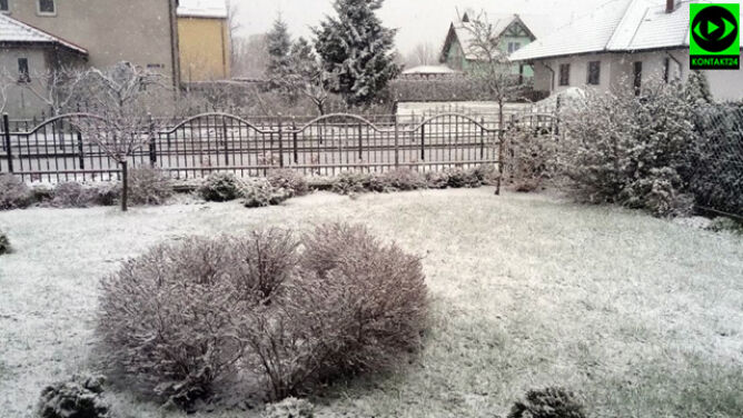 Zimny front przyniósł śnieg. <br />Na ocieplenie jeszcze poczekamy
