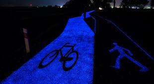 Świecąca ścieżka rowerowa (Instytut Badań Technicznych)