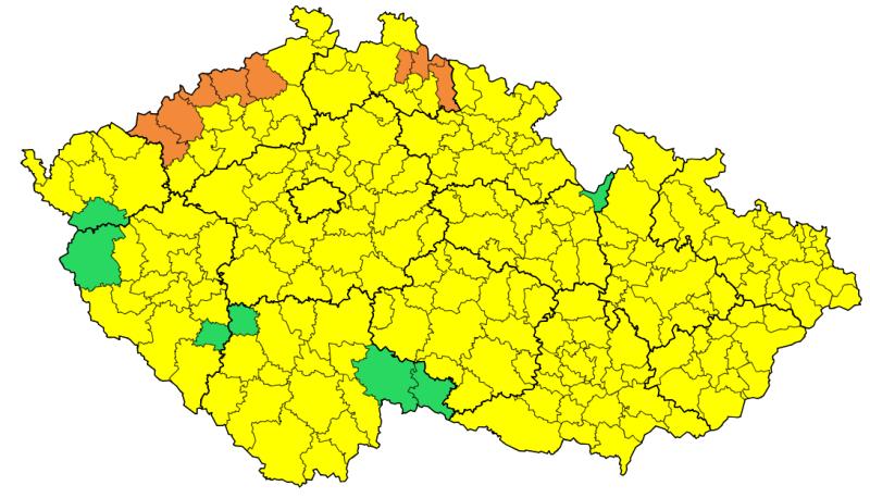 Ostrzeżenia meteorologiczne w Czechach (Český hydrometeorologický ústav)