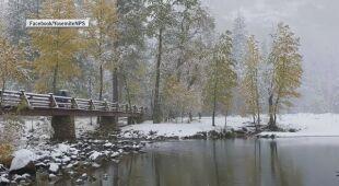 Zima w parku Yosemite