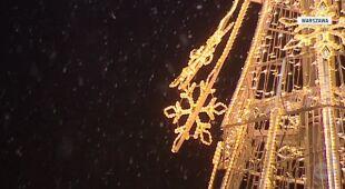 Śnieg spadł w Warszawie (TVN24)
